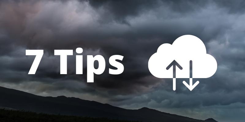 7 online backup tips